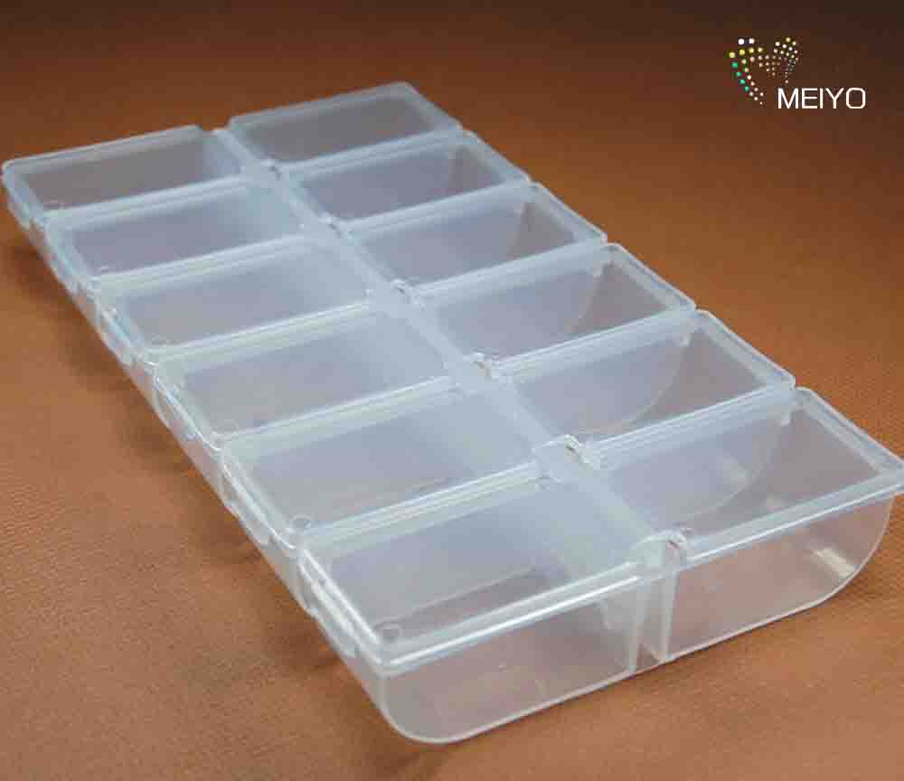 Where the lynn 12 cells loaded beads diy jewelry accessories box plastic storage box/finishing storage box jewelry box diamond jewelry Box