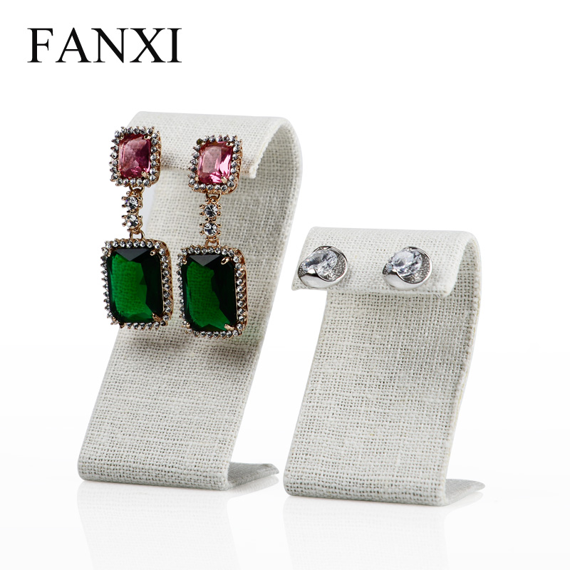 Where the west fanxi korea burlap linen s creative jewelry display stand earring holder earring MB030 two sets