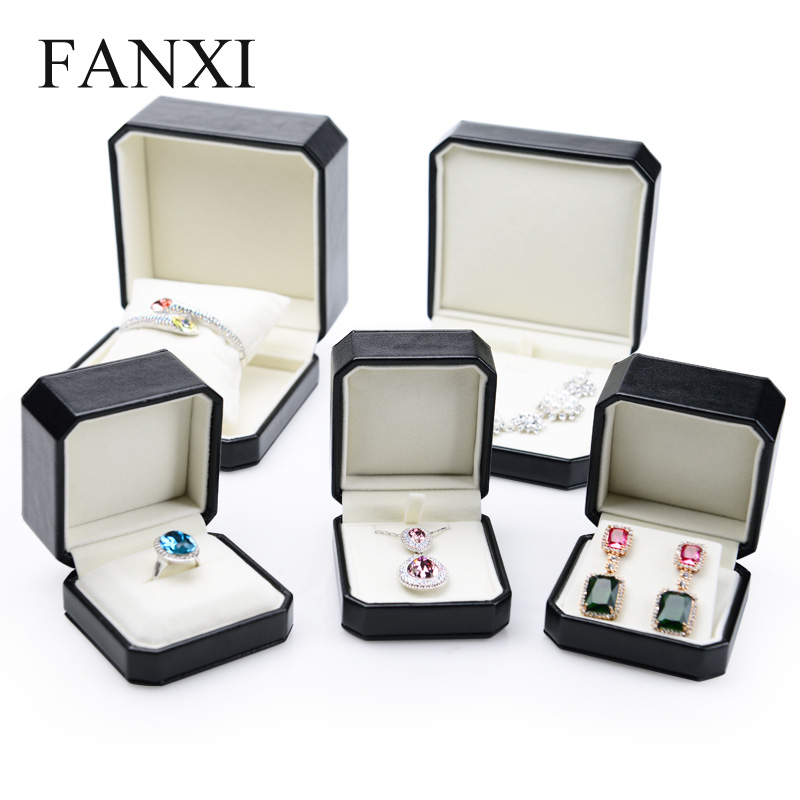 Where the west fanxi pu leather earrings necklace bracelet jewelry box jewelry display box storage box creative illiciaceae
