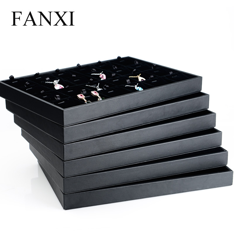 Where the west fanxi pu leather jewelry box jewelry necklace ring without cover storage display tray props