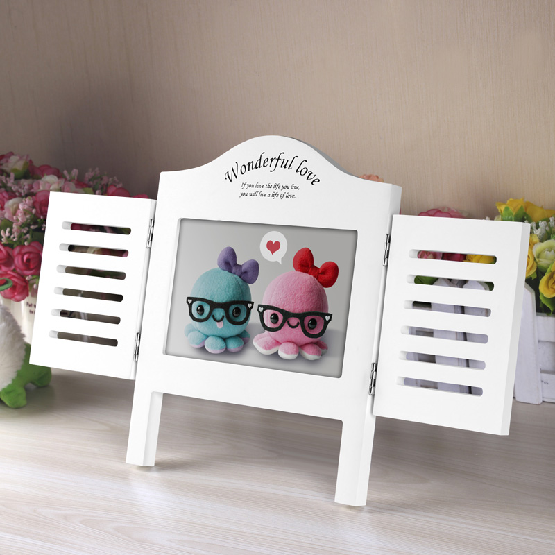 White 6 exquisite windows birthday wedding gifts creative 7-inch photo frame family portrait photo frame wedding photo frame swing sets for children