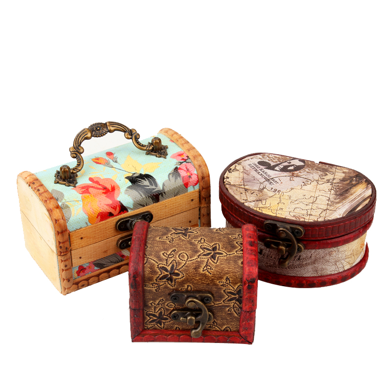 Wide margin de chinese vintage wood jewelry box storage box finishing box yuan gem small wooden storage box storage box