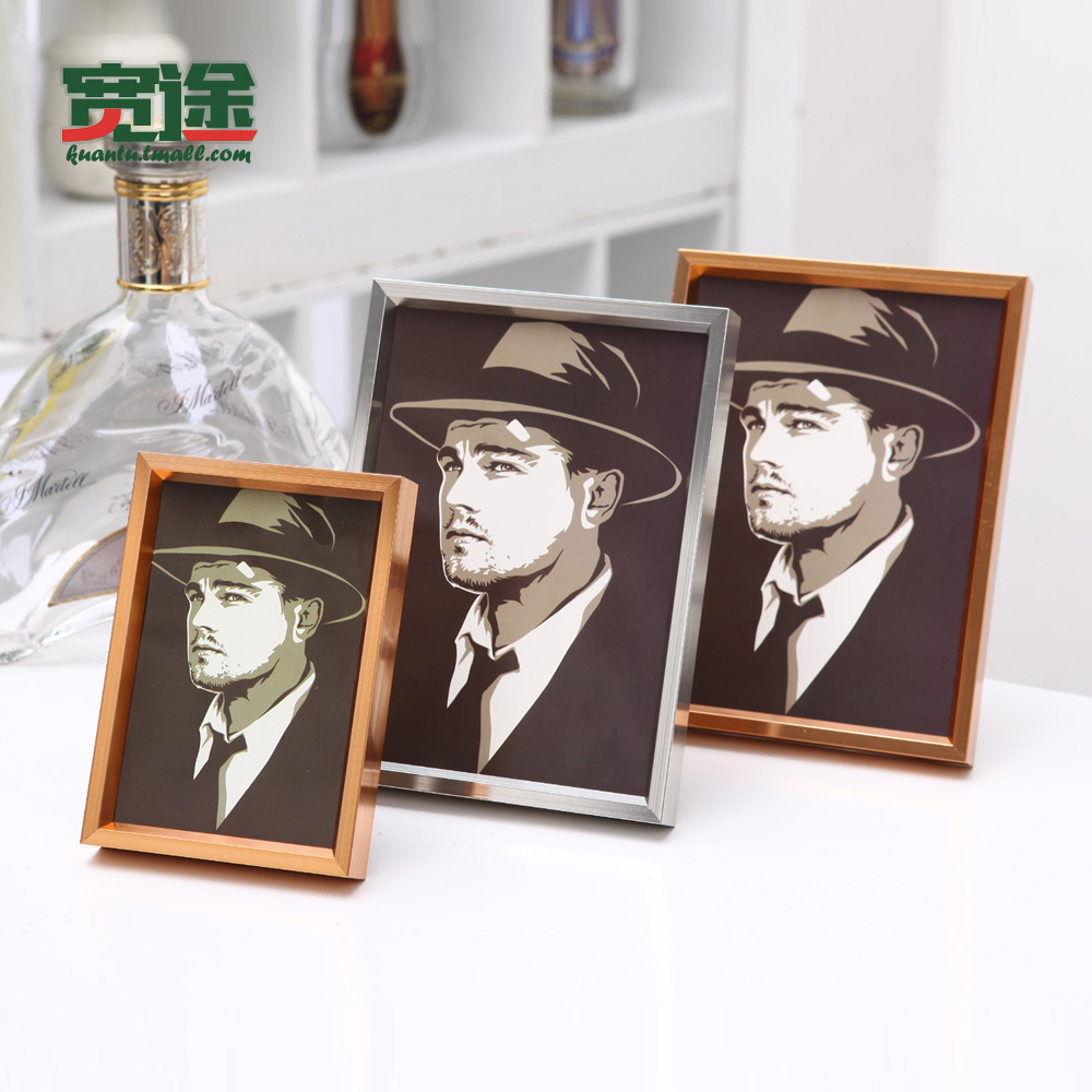 Wide passers aluminum alloy 12 inch 16 inch photo frame wall swing sets creative photo frame metal photo frame picture frame custom frame