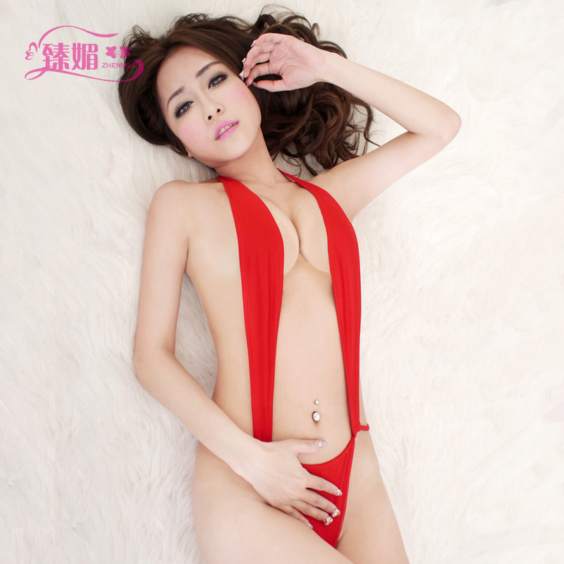 Wild sexy backless halter style leotard burst milk sexy women sexy lingerie suit contains adult reality aqc