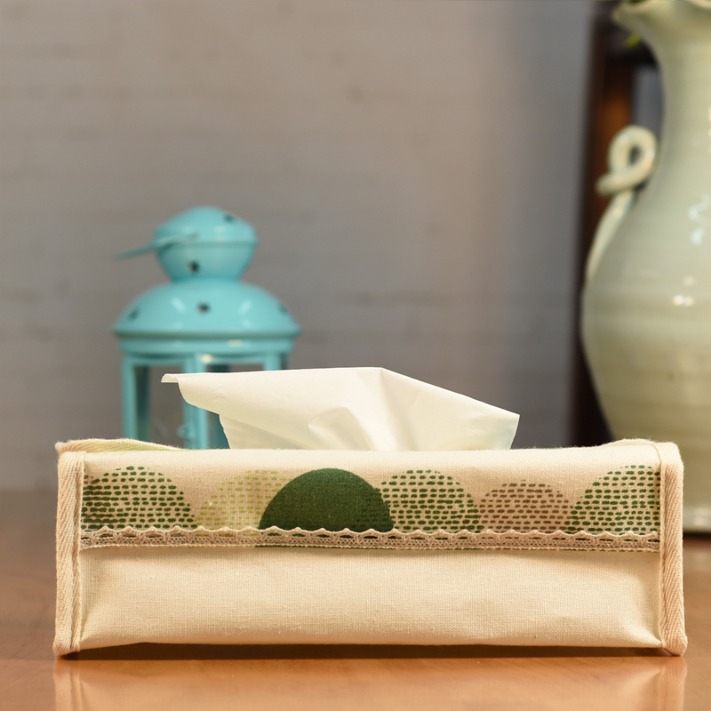 Willow wind home storage pastoral fabric tissue box pumping tray desktop storage box car pumping tray table cloth