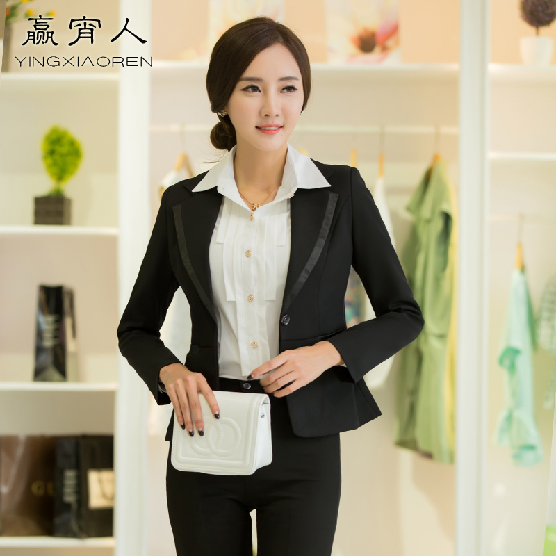 Win one night office interview ol career suits ladies autumn and winter clothes counter suit overalls taoku