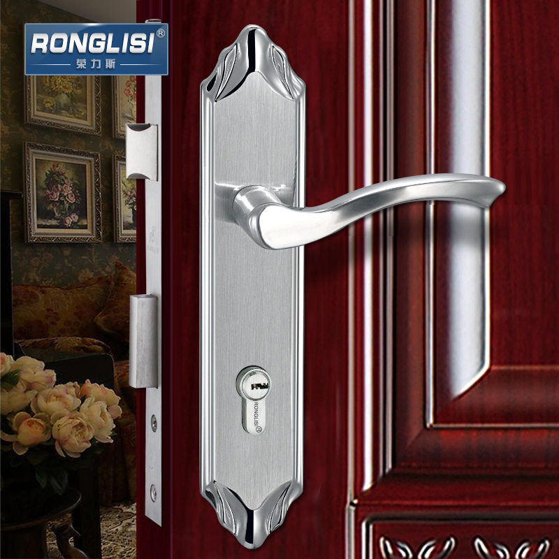Wing tirith 304 stainless steel security door locks interior door locks bedroom door handle lock copper cylinder