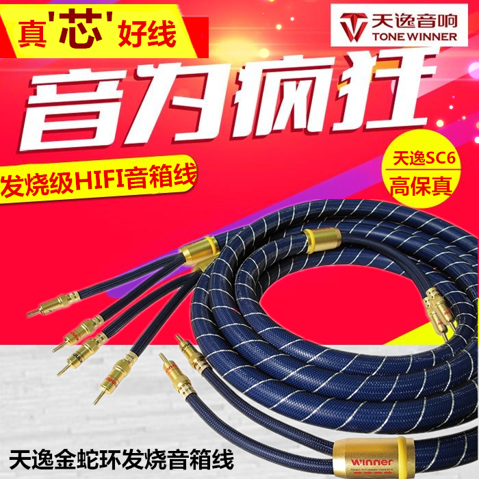 Winner/tin yat sc-6 krait fidelity hi-fi audio speaker wire speaker cable audio cable