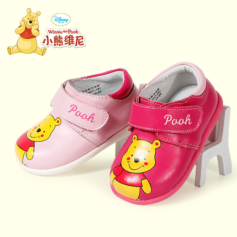 Winnie the pooh female baby shoes leather shoes 2016 spring and autumn new years old baby shoes baby shoes soft shoes reprint