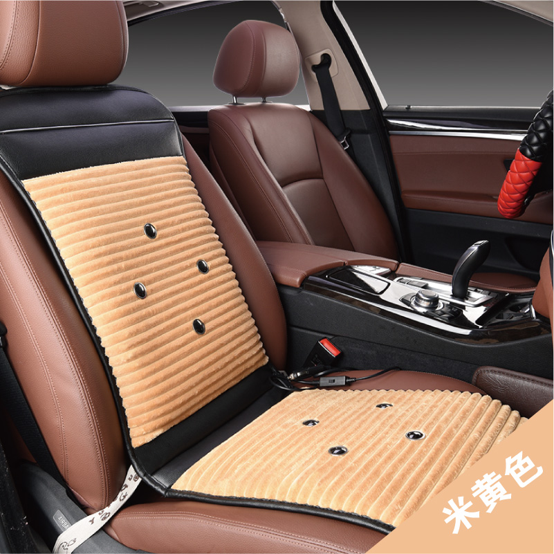 Winter plush car mats car seat cushion heating pad heating thermostat v universal car seat heating cushion