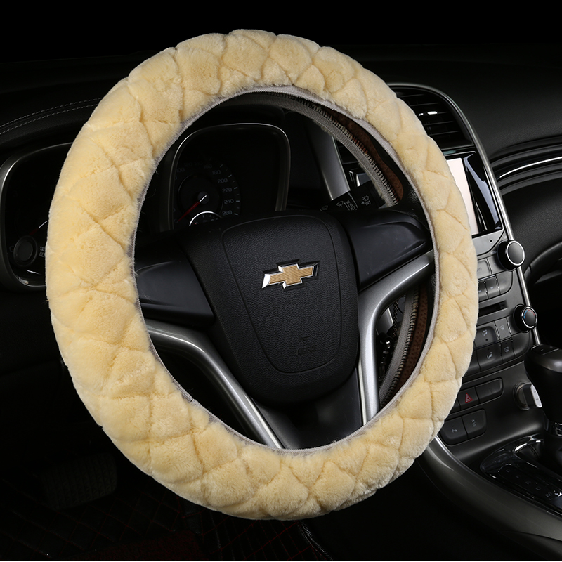 Winter plush steering wheel cover applicable toyota's new rav4 corolla reiz vios corolla highlander crown