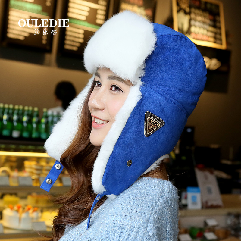 Winter tide male ms. outdoor warm hat ear cap lei feng cap cotton hat lovers hat northeast