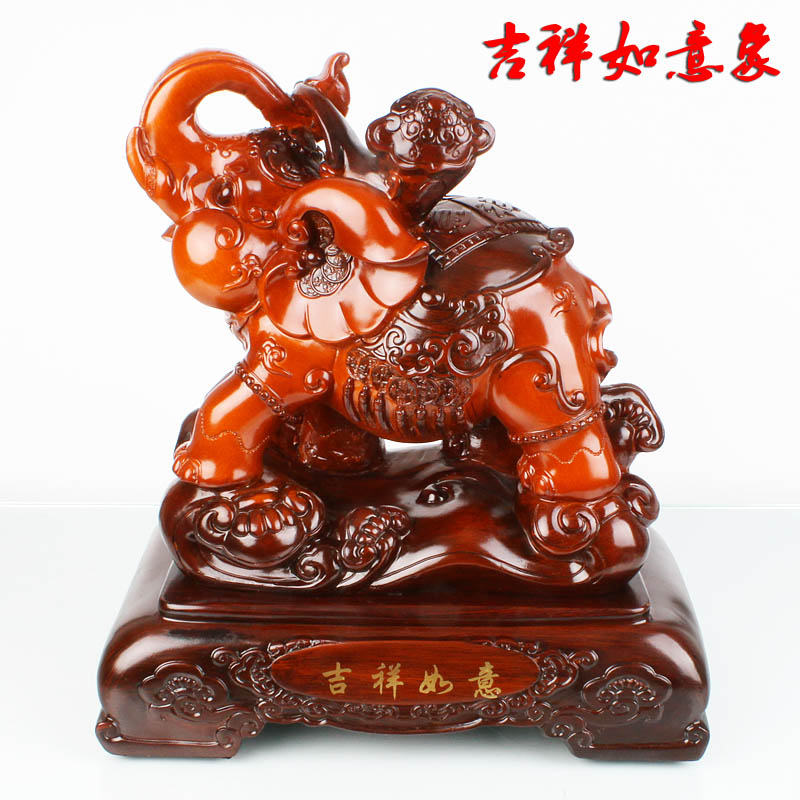 Wishful wonderful auspicious elephant ornaments tuba jixiang rui like company opening gifts crafts gifts