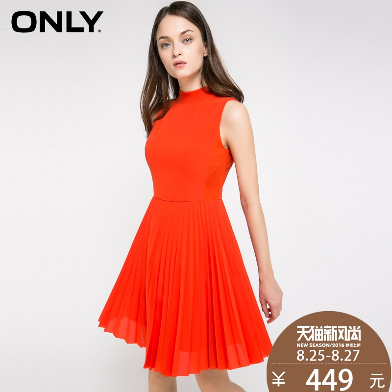 With coupons over 500 minus 50 yuan only summer new pleated skirt sleeveless dress female | 116307509
