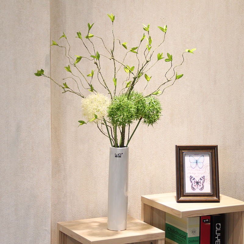 Wo + artificial flowers artificial flowers cherry snowball dandelion living room table and home decorative flower floral suit modern aesthetic