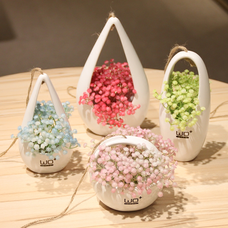 Wo + artificial flowers artificial flowers stars fashion flower basket flower pot with ceramic bottle craft decorative flower suit