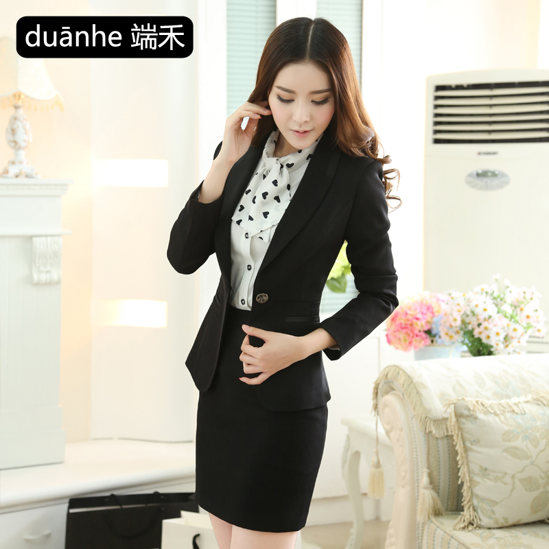 1704ce171d Get Quotations · Wo end of spring and autumn wear suits ladies suit ladies  wear professional dress suit overalls