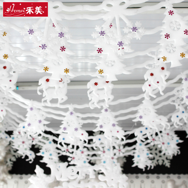 get quotations wo us christmas ceiling decoration hotel mall ceiling piece of foam snowflake christmas decorations christmas ornaments