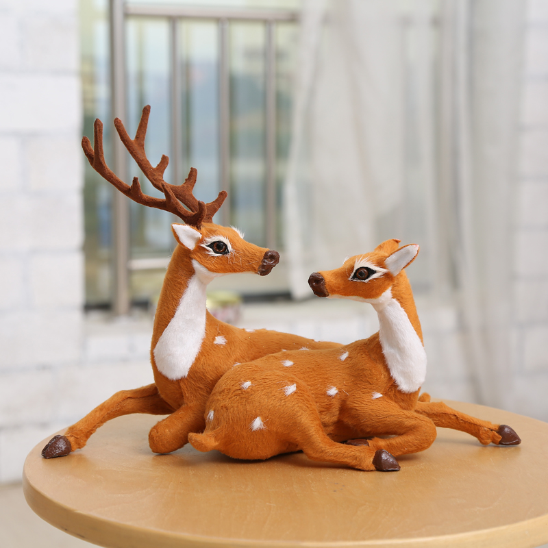 get quotations wo us simulation christmas deer christmas husband and wife couple elk reindeer christmas decoration scene layout