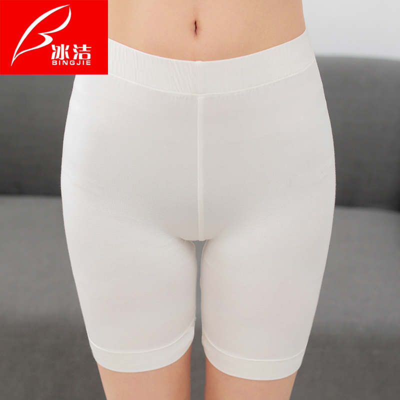 Wolf pants bingjie anti emptied pants female underwear safety pants anti emptied leggings female summer safety pants five pants Thin section