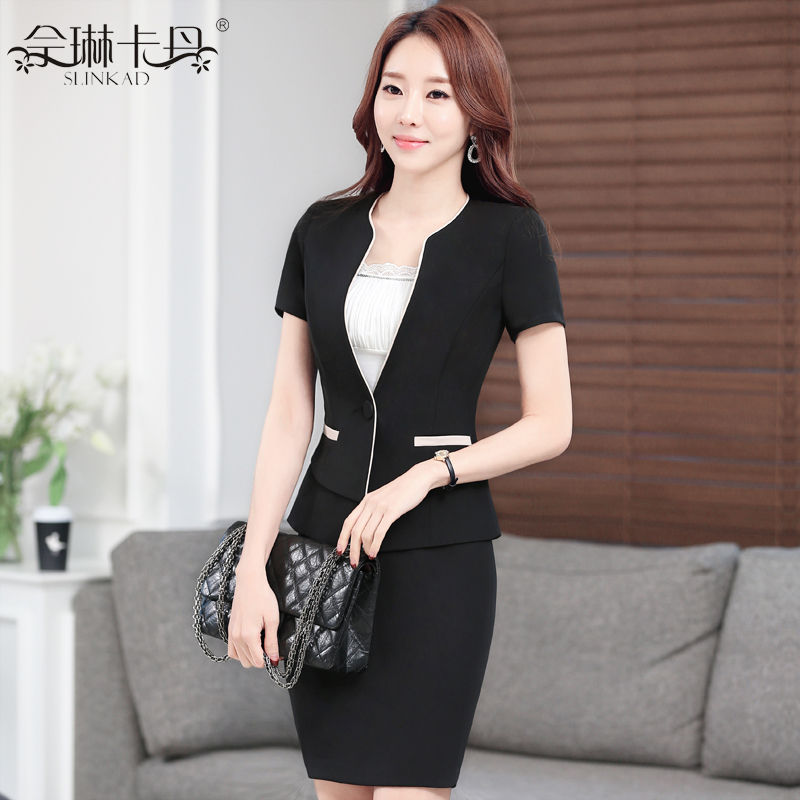 Women career suits summer wear women's skirt suits small business suits overalls female suit tooling interview