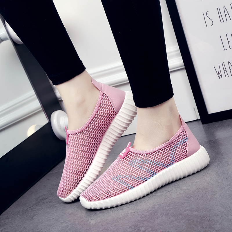 Women's sports shoes mesh shoes mesh shoes women casual shoes female models mesh shoes summer lightweight breathable mesh shoes running shoes step shoes