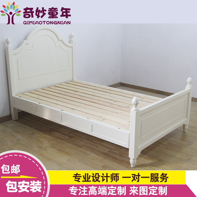 Wonderful childhood european custom children's furniture suite bed children bed wood bed children bed white male child girls