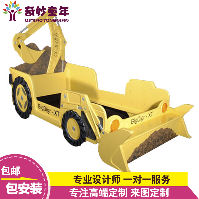 Wonderful childhood excavator creative american country custom solid wood children's bed bed children's bedroom furniture beds