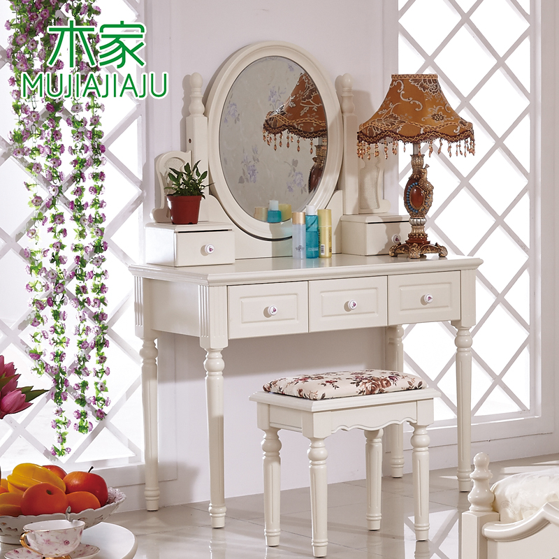 Wood home furniture korean garden garden furniture minimalist dresser dressing table with stool st302