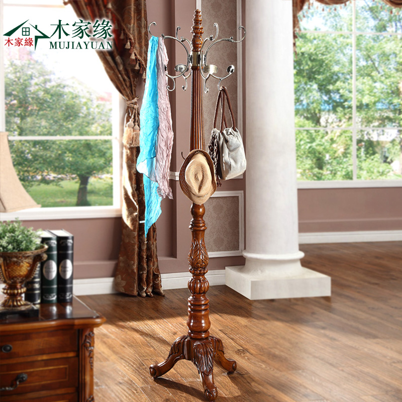 Wooden house edge american furniture european solid wood floor coat rack hanger village shape creative stainless steel coat hanger