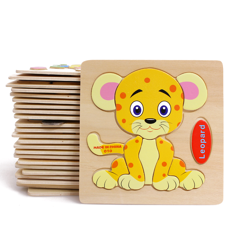 Wooden jigsaw puzzle force children baby jigsaw puzzle dimensional jigsaw puzzle wooden animal jigsaw puzzle 61 nursery toys gift
