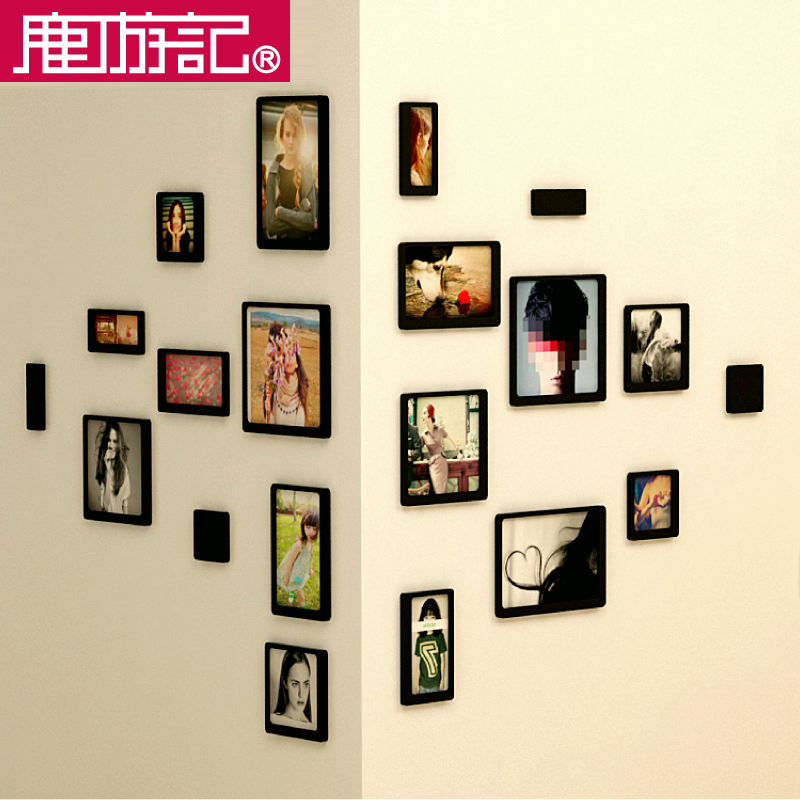 Woodiness euclidian bedroom child living room photo wall photo frame wall photo wall combination of creative restaurant stereoscopic 3d wall stickers