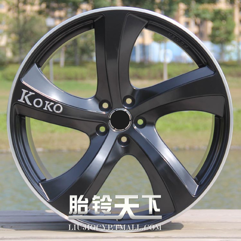 [World] fetal bell 5 painting shiny black car side, silver, plating, car modified wheel rims 21 inch