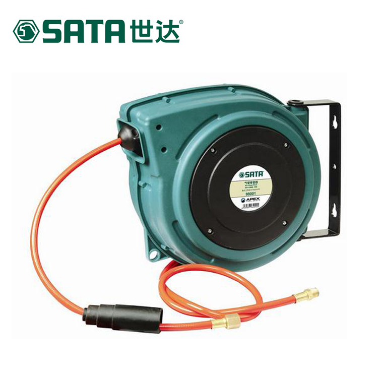 World of trachea automatic retractable hose reel hose reel drums around a tube pu tube 10/15 m 98001/98002