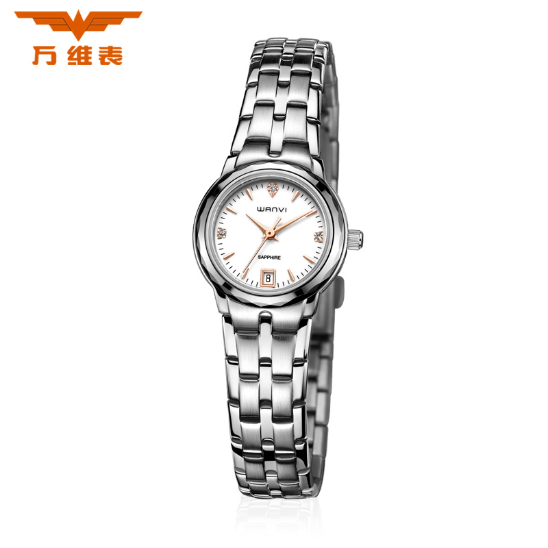 World wide web unpas genuine couple watch one pair of stainless steel ladies watches casual watch steel waterproof calendar on the table table