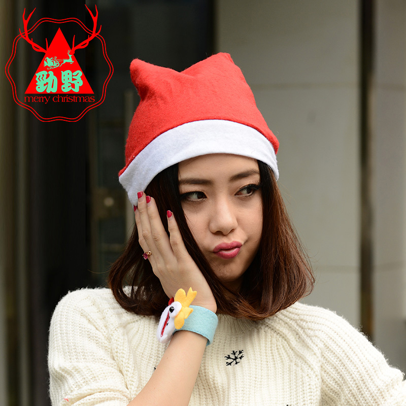 Wovens christmas hats christmas hats christmas decorations christmas tree ornaments santa claus hat adult children christmas hats