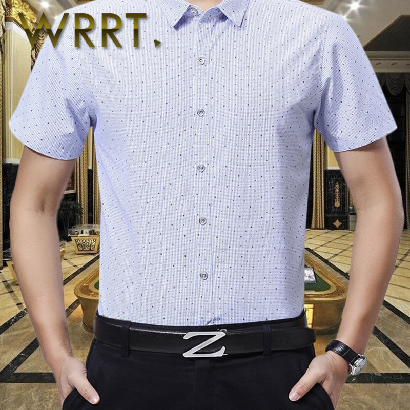 Wrrt spend summer new korean version of business casual loose shirt men square collar shirt 4530