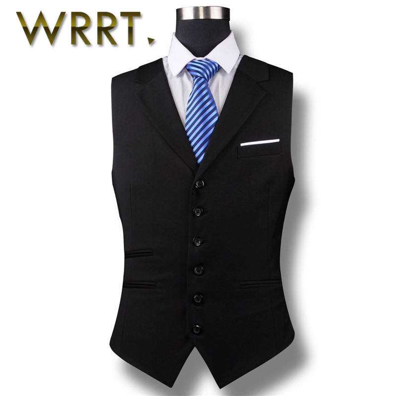 Wrrt years of the new solid color men's business casual vest vest vest korean version of the single breasted slim was thin 4838