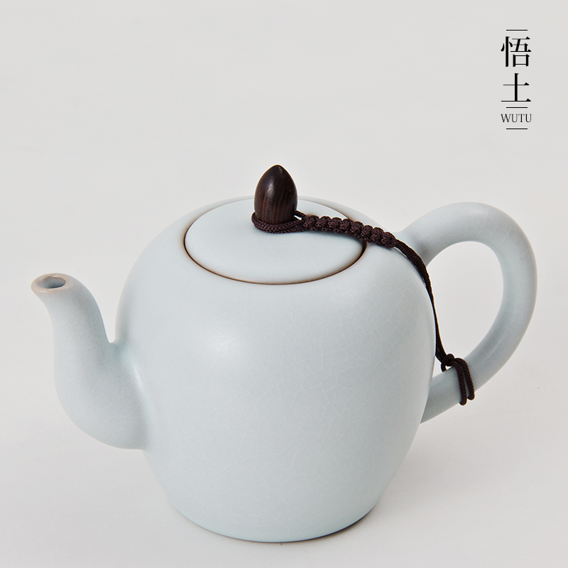 Wu soil tea teapot kung fu tea ru opening piece handmade beauties pot teapot tea pot spring ceramic porcelain kung fu tea single pot