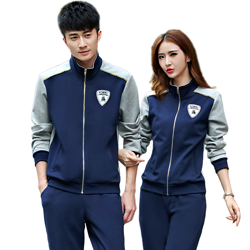 Wyatt degree new sports suit male korean lovers long sleeve cardigan casual sportswear suit male spring and autumn