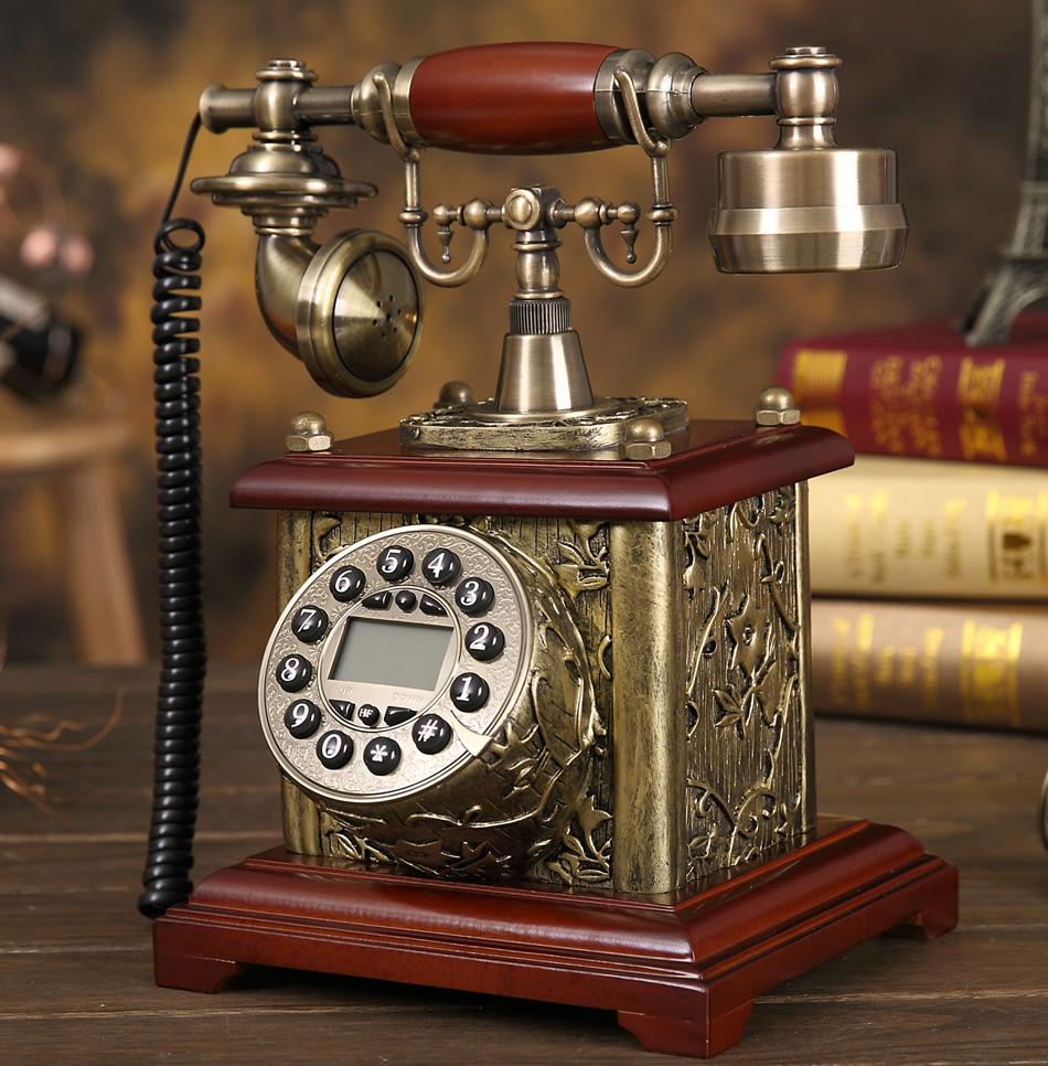 Get Ations Wyatt Flag European Antique Wood Telephone Retro Vintage Creative Home Phone Landline