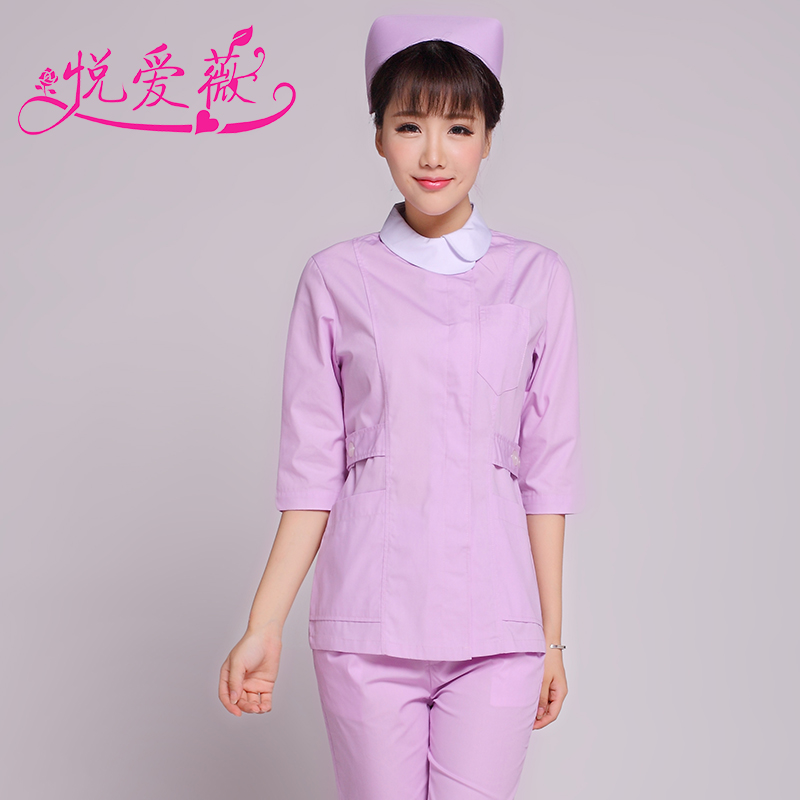 Wyatt ivy 2015 new winter nurse suit split dental nurse medical student nurse lab coat