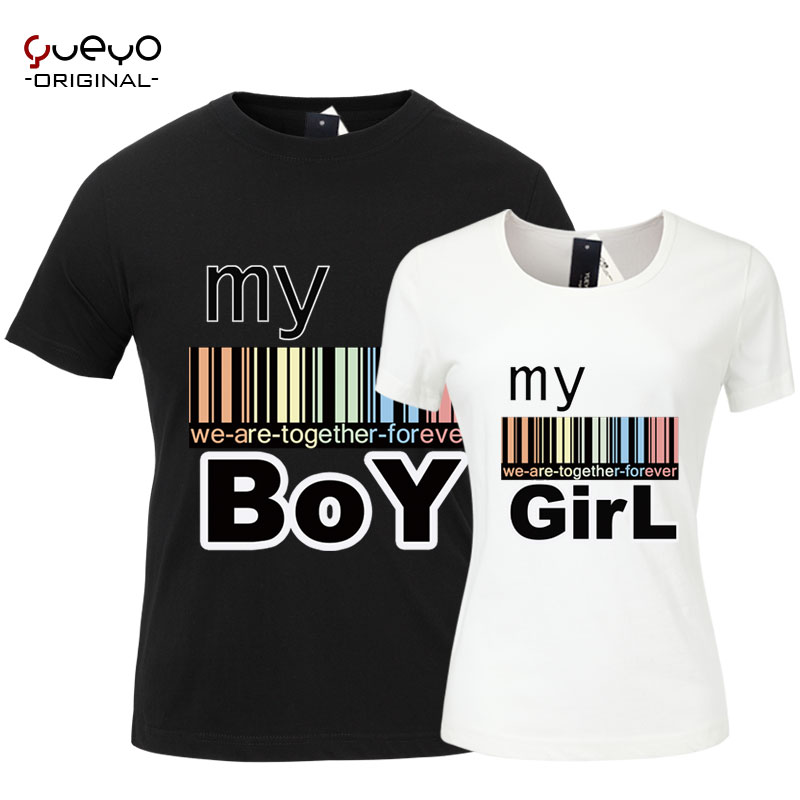 Wyatt tour 2014 new summer lovers couple shirt lovers men and women casual cotton short sleeve t-shirt myboymygirl