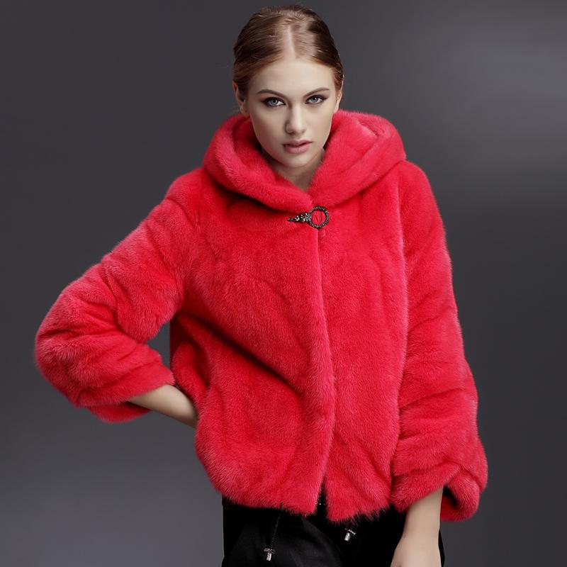 China Fur Woman Coat Red, China Fur Woman Coat Red Shopping Guide ...