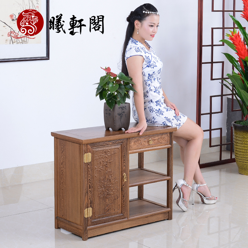Xi hin court mahogany furniture wenge tea cabinet cupboard sideboard solid wood lockers chinese classical