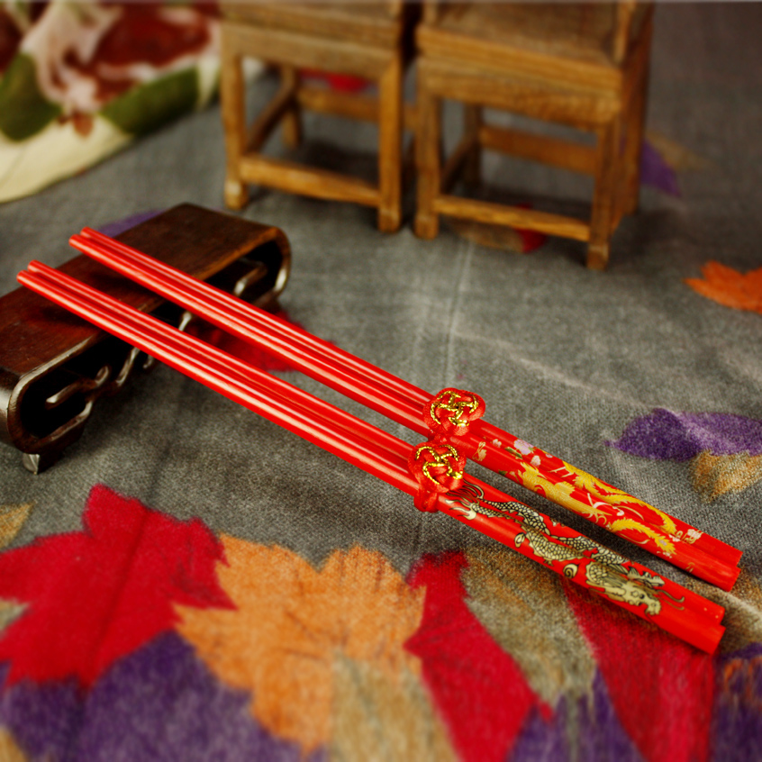 Xi shun zhe creative original chinese style dragon and phoenix chopsticks gift box wedding gift wedding gifts wedding