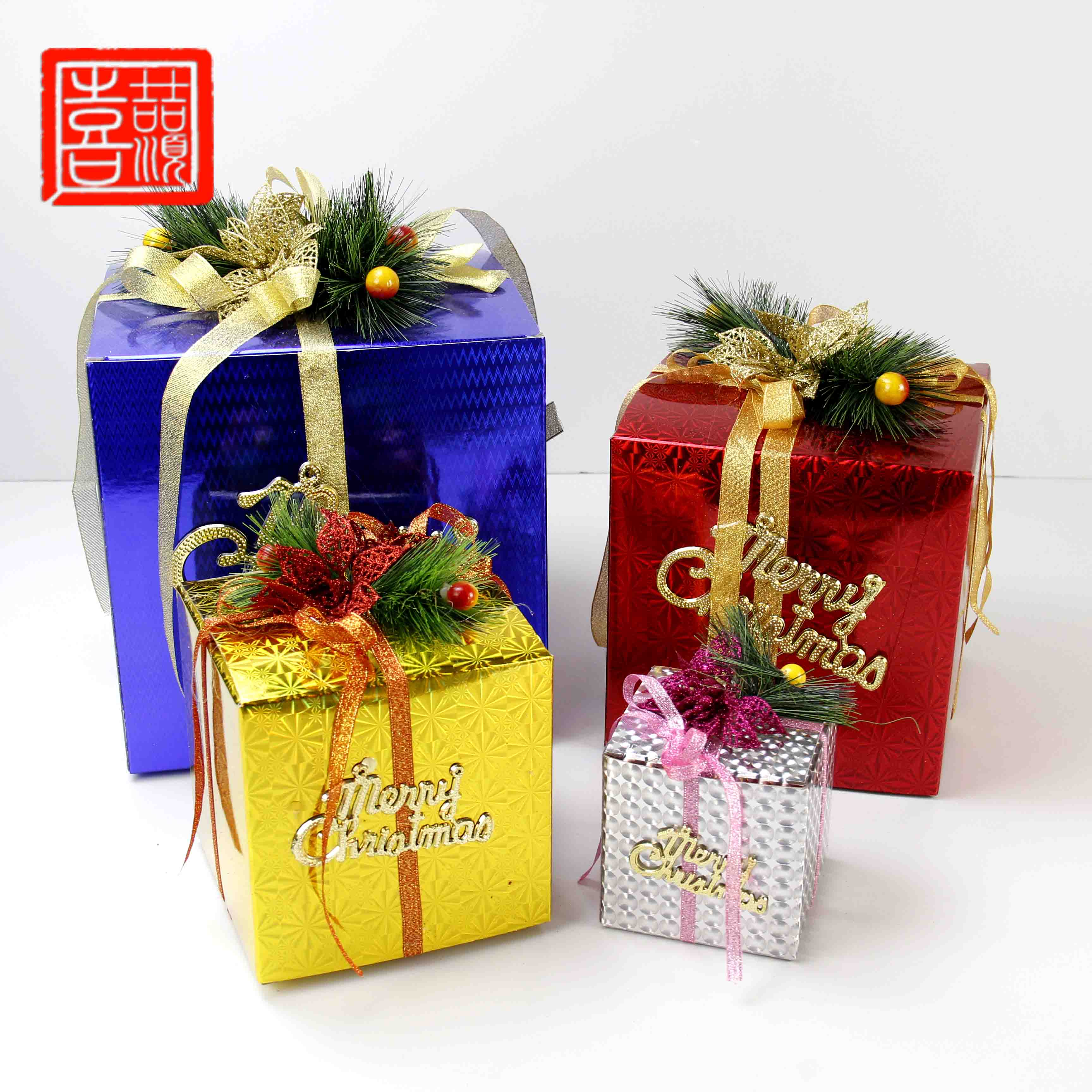 Xi shun zhe stick christmas arrangement of decorative ornaments upscale christmas gift box decorated christmas fruit safe box