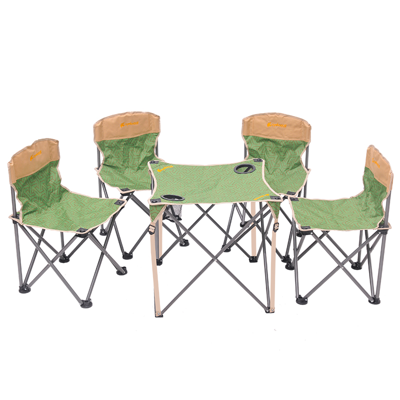 Xianuoduoji spring and summer outdoor portable folding canvas chair desks and chairs tables and chairs set 5 sets of fishing