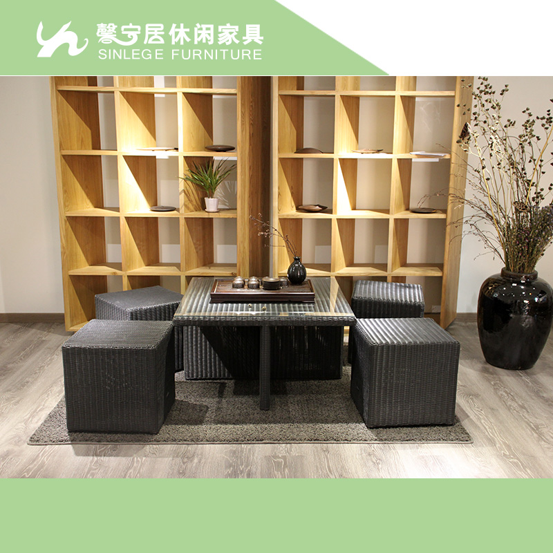 Xin ning habitat tatami short play kung fu tea tea tables and chairs combination of leisure furniture rattan patio balcony small tables and chairs
