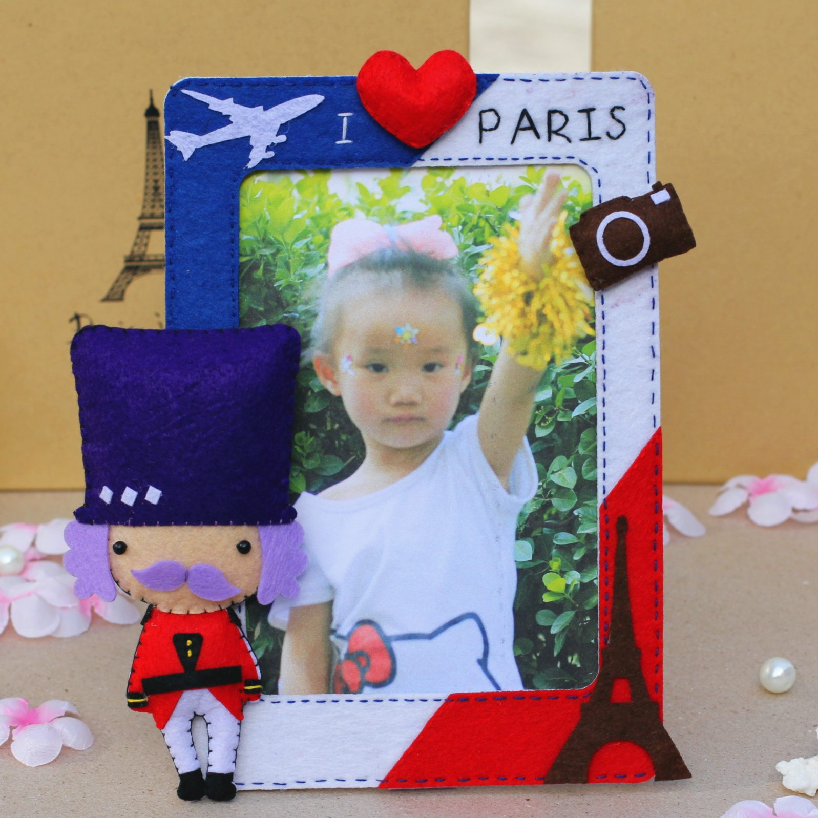 Xin qing original diy handmade cloth material bag free cutting of non woven british style home decoration photo frame